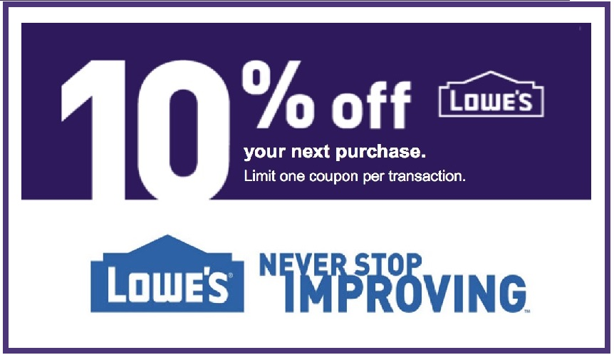 Lowes coupons and coupon codes